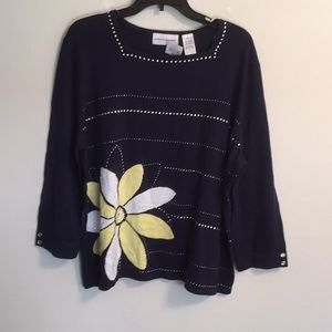 Alfred Dunner Sweater full sleeve NWT size XL
